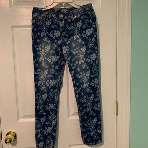 Cat & Jacket Floral Denim Jegging